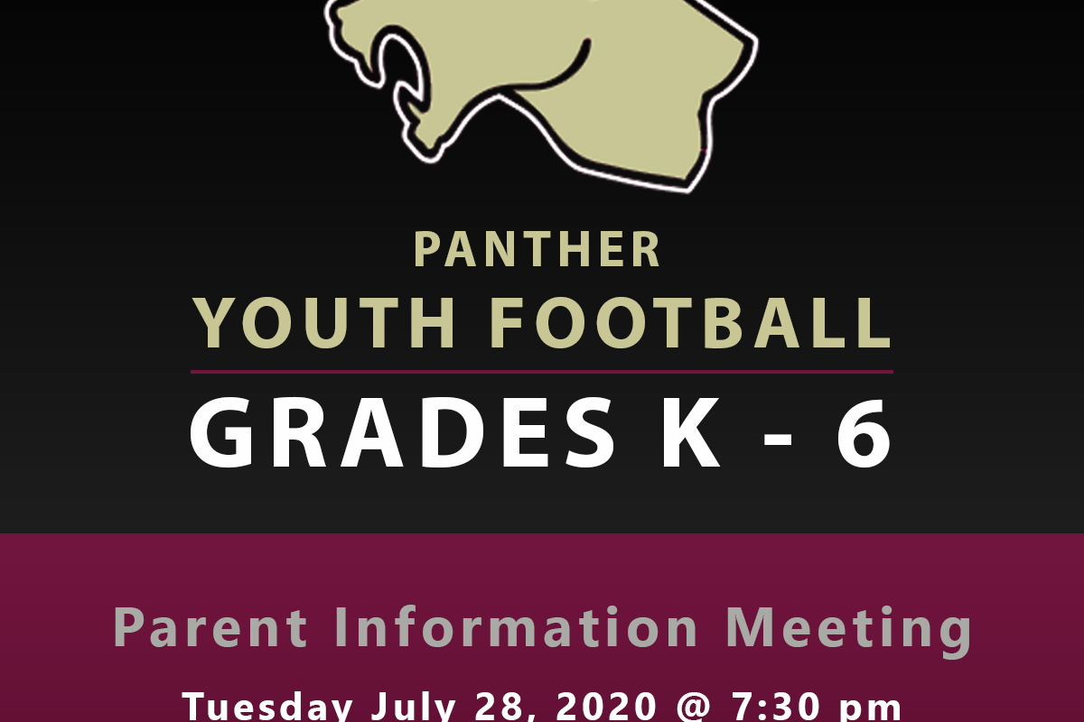 2020 Youth Football Parent Meeting